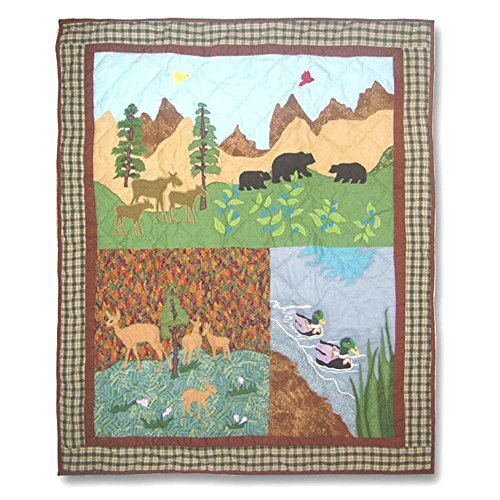 Patch Magic 36-Inch by 46-Inch Natures Splendor Quilt Crib by Patch Magic