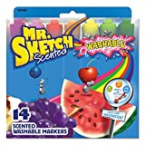 Mr. Sketch Scented Washable Markers, Assorted Scents and Colors, Chisel Tip, Pack of 14