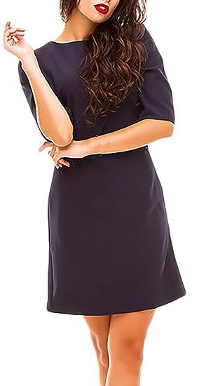 Huixin Vestidos De Fiesta Cortos Elegantes Primavera Verano Media Manga Un Solo Pecho Color Sólido Negocios Lápiz Vestido Vestidos De Coctel Disfraz Túnica: ...