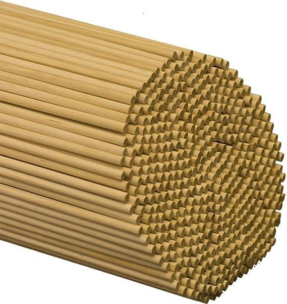 diam/ètre 5 mm, longueur 20 cm Lot de 30 tiges de cheville en bois pour travaux manuels 30 pi/èces