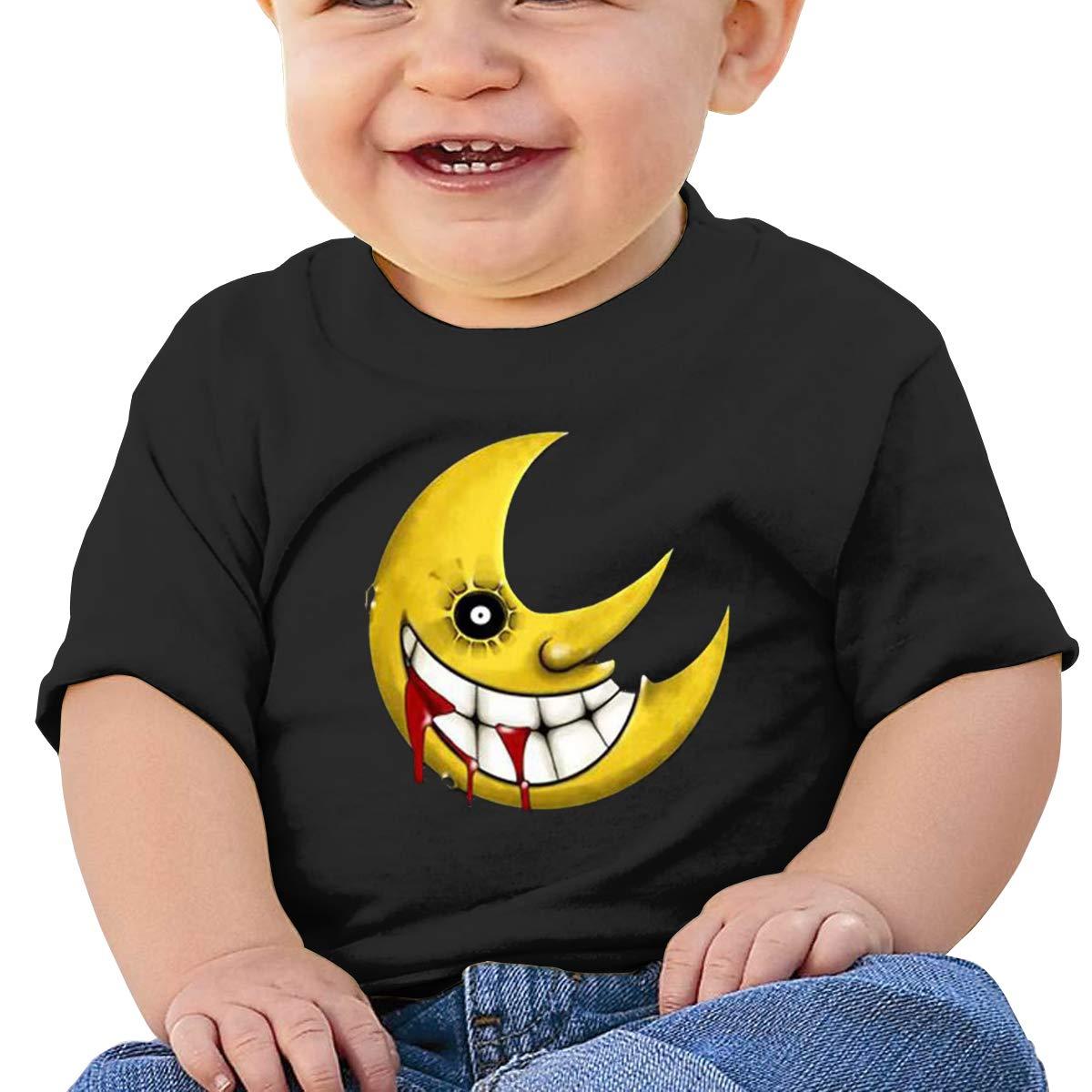 MONIKAL Unisex Infant Short Sleeve T-Shirt Soul-Eater-Moon Toddler Kids Organic Cotton Graphic Tee Tops