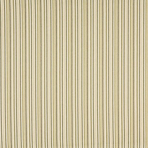 F474 Light Green Dark Green And Beige Thin Stripe Woven Upholstery Fabric By The ()