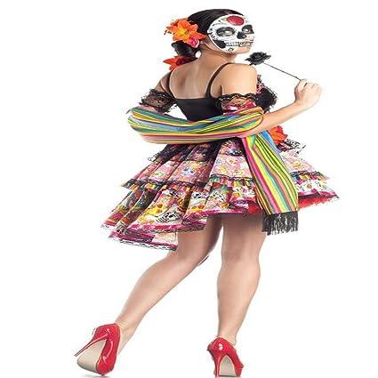 ZSNB Disfraces para Adultos nuevos Día de los Muertos Flor ...