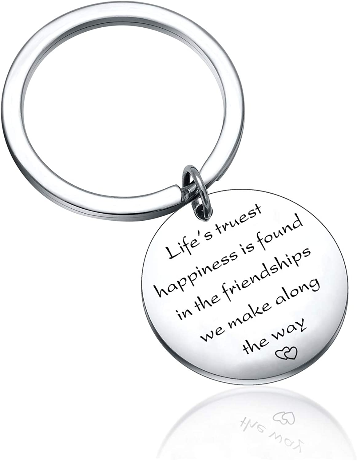 Life's truest happiness is found in the friendships we make along the way Best Friend Keychain friendship gift
