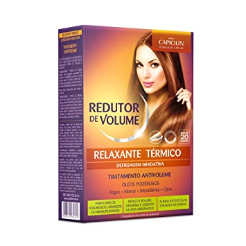 Amazon.com : Linha Redutor de Volume Capicilin - Kit Relaxante Termico Defrizagem Gradativa (Capicilin Volume Reducer Collection - Thermo Chill Gradual ...