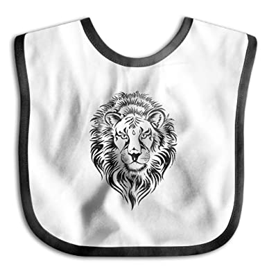 amazon com angry lion face baby boys girls dribbler bibs clothing