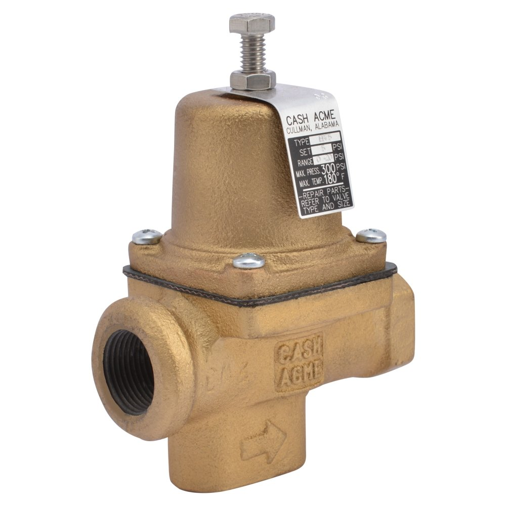 Cash Acme 20662-0005 3/4 Pressure Regulator with EB75 FPT X FPT (Valve Is Not A Cartridge Based Design; 0-20 Psi Range)