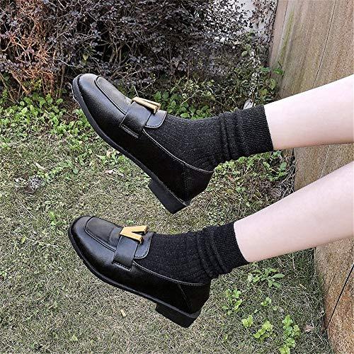 Plano Primavera Individuales Con Perezosos Hembra Guisantes Mocasines Negro Hermana De Plana Zapatos Femenina Suave Capucha dqXwAt