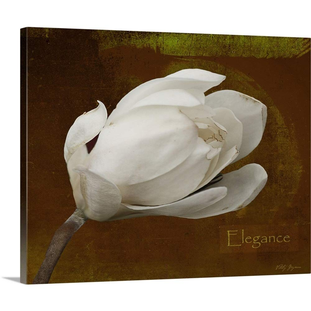 Vitaly Geyman Premium Thick-Wrap Canvas Wall Art Print entitled Floral Dance Elegance 30''x24''