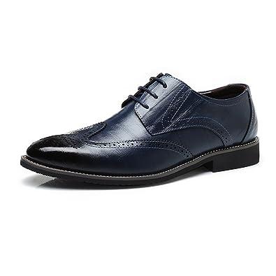 ZX Leder Oxford Schuhe Männer, Business-Kleid Schuhe Breathable PU Leder verschönert Quaste Slip-on Oxfords für Herren (Farbe : Brown, Size : 42 EU)