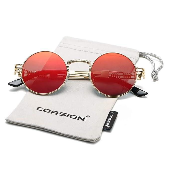 Redondas Gafas Retro John es Coasion Sol SteampunkAmazon Lennon De 0OkPwn