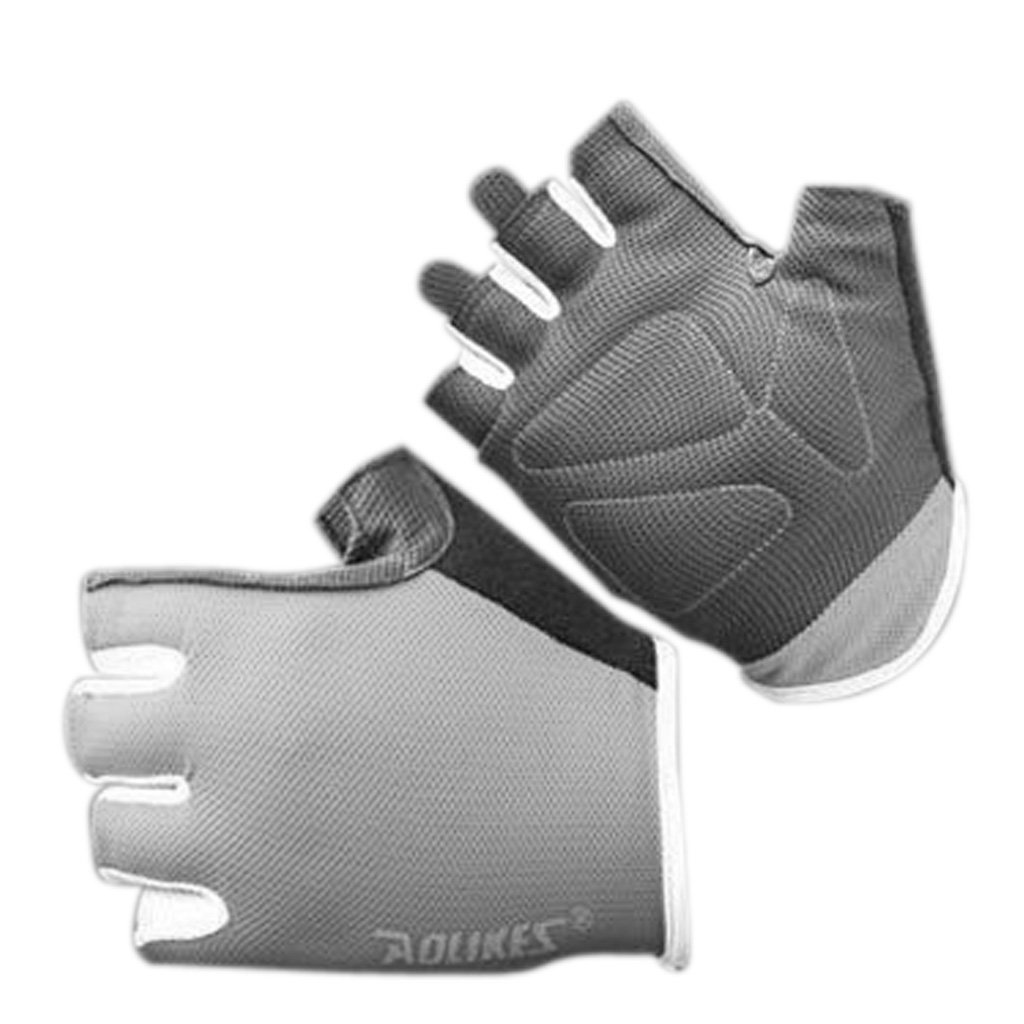 Hukai Men Women Anti-Skid Breathable Gym Gloves Sport Fitness Exercise Weight Lifting