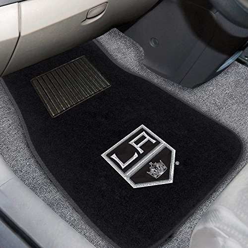 FANMATS 17166 NHL Los Angeles Kings 2-Piece Embroidered Car Mat Set ()