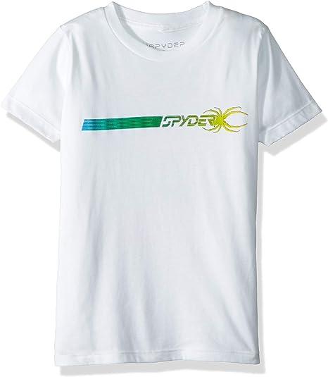 Spyder - Camiseta Deportiva de Manga Corta de algodón orgánico ...