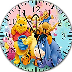 Winnie The Pooh Frameless Borderless Wall Clock F87 Nice For Gift or Room Wall Decor