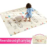 Infant Shining Baby Play mat, Playmat, Baby mat (200cm x 180cm) Extra Large Thick Foam Folding Crawling playmats Reversible Waterproof for Babies (Stupid Bear)
