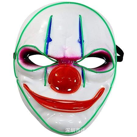KLJJQAQ Halloween Navidad Presente LED Enciende la máscara de ...