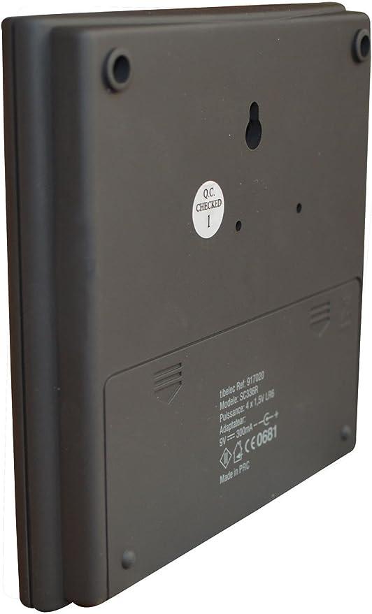 200 m Extel 081736 Carillon Sonnette sans fil Noir
