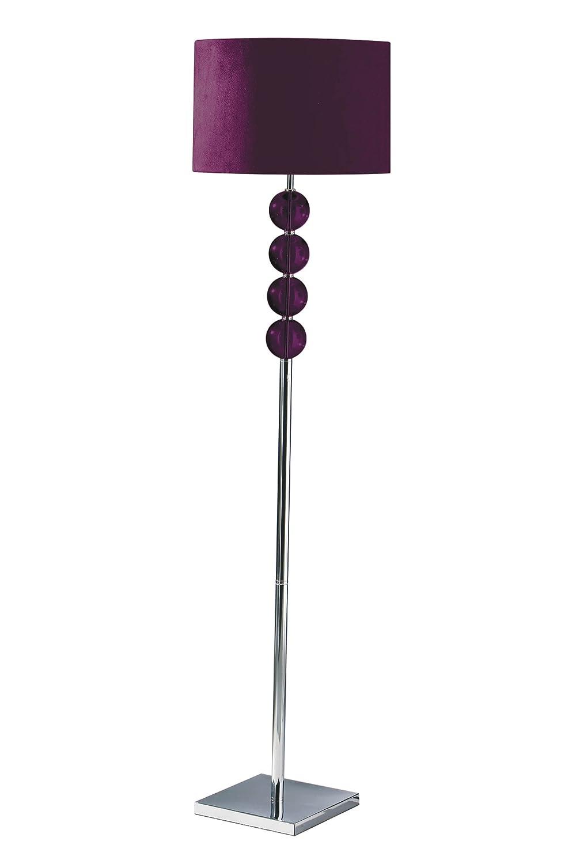 Premier housewares mistro purple floor lamp with 4 glass balls premier housewares mistro purple floor lamp with 4 glass balls chrome base and faux suede shade amazon lighting aloadofball Gallery