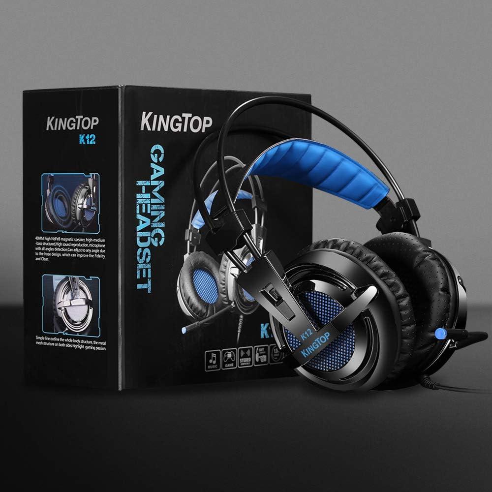 Casque pour PS4 KingTop Gaming Headset avec Micro Réglable