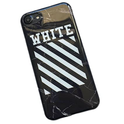 official photos c68cb 49966 Off-White Cracking Marble iPhone 6/6s Case - Soft Thin/Slim Fit Durable  Design (Black)