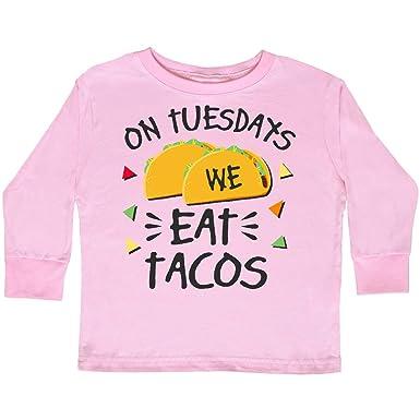 93c14aca Amazon.com: inktastic - On Tuesdays We Eat Tacos with Toddler Long Sleeve T- Shirt 2fcfa: Clothing