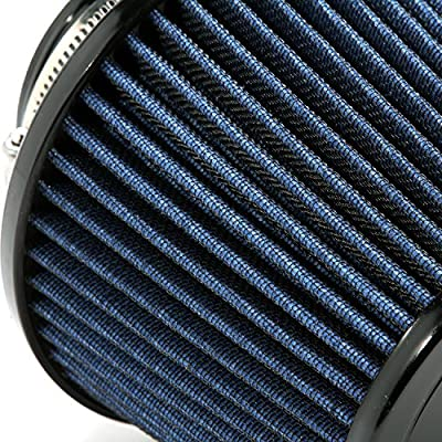 BBK 1740 BBK Cold Air Intake Replacement High Flow Washable Air Filter - Blue: Automotive