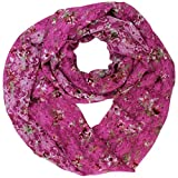 Pink Floral Lace Infinity Scarf