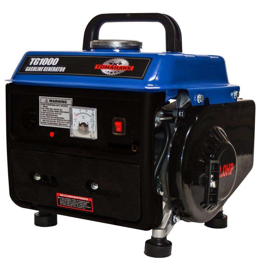 Tomahawk Power TG1000, 1000 Running Watts/800 Starting Watts, Gas Powered Portable Generator