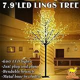 Strong Camel 7.9ft Christmas light tree 600 LED Cherry Blossom Flower Light Tree Home Garden Decoration--COLD LIGHT