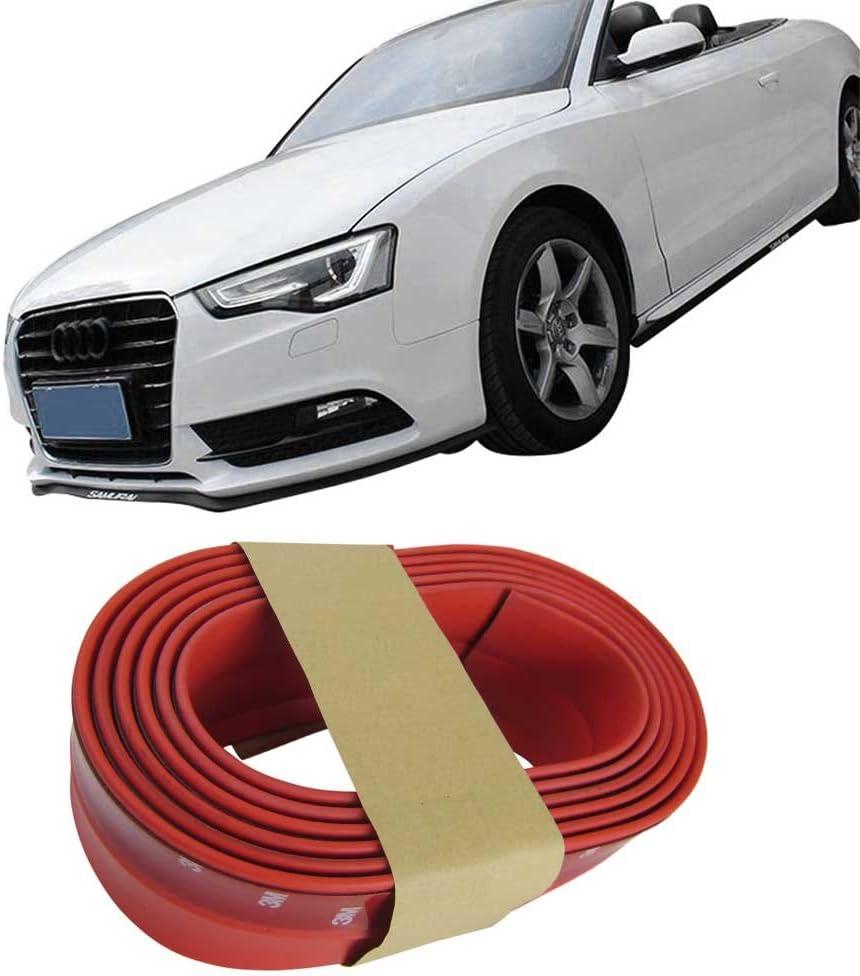 Frontspoiler Gummilippe Spoiler Lippe Gummi Flexibel Rot Für Viele Fahrzeuge Auto