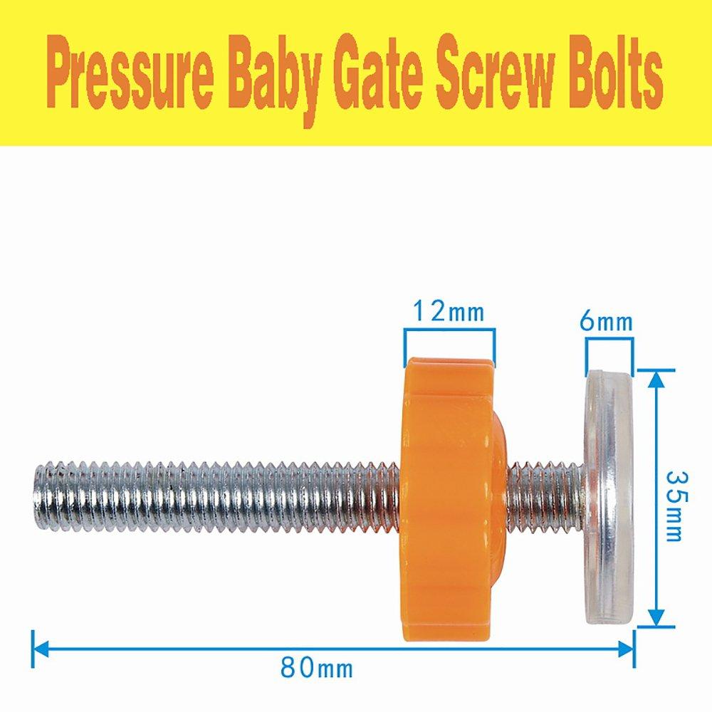 4 pcs Filet/ées de Broche Tiges Pression pour les Portes descalier pour animaux de compagnie Pingenaneer Protection de Murs pour Barri/ères de S/écurit/é B/éb/é Orang/é M10 x 10MM