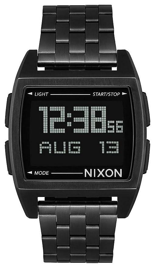 Nixon Base - Reloj (Reloj de Pulsera, Masculino, Acero Inoxidable, Negro,