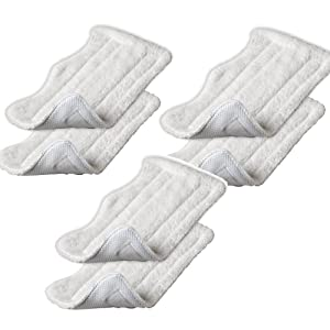 Amariver Microfiber Replacement Pads for Shark Steam Euro-Pro Mop S3250, S3101,S3111,S1001 etc(Set of 6)