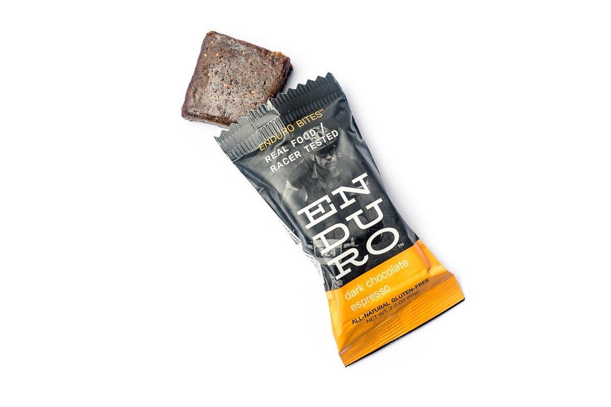 Enduro Bites Dark Chocolate Espresso Real Food Energy Bar 10-Pack (Dairy Free, Gluten Free, Non GMO) by Enduro Bites