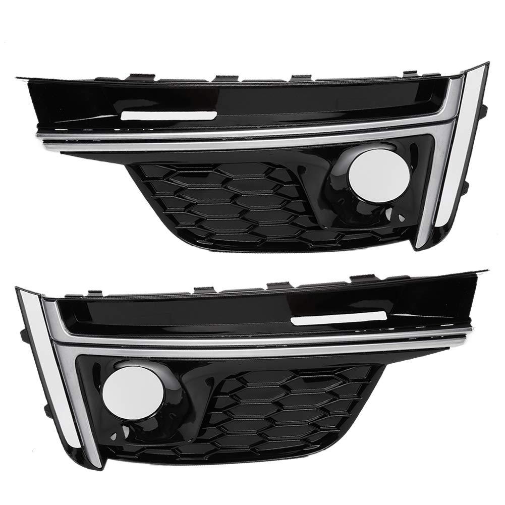 1 paio Car Fog Light Copertura griglia copertura Accessorio auto Fit for s5 17-19 Suuonee Car Fog Light Copertura per telai