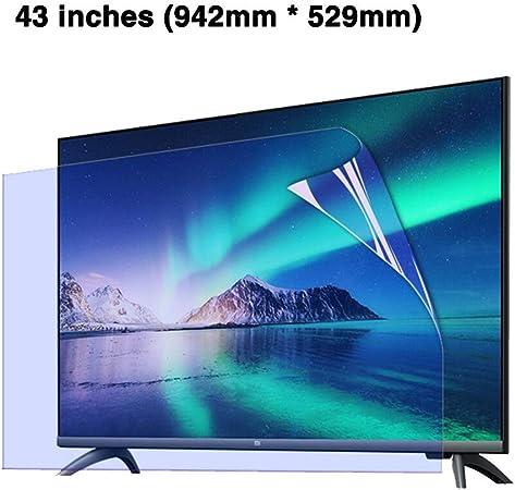 HDCW 43 Pulgadas de Pantalla LED Anti-Blue File Protector/Ultra-Clear TV Protector de la Pantalla de protección/Ojos/Radiación Reducción/Anti-Huella Digital de la Mancha de petróleo: Amazon.es: Hogar