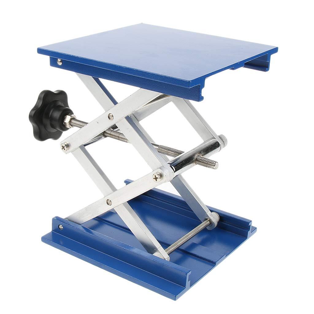 MagiDeal 15x15cm Laboratory Lift Lifting Platform Stand Rack Scissor Jack