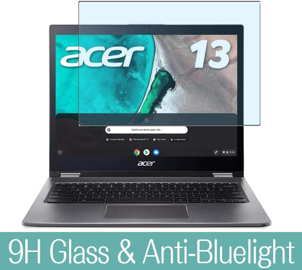 "Synvy Anti Blue Light Tempered Glass Screen Protector for Acer Chromebook Spin 13 CB715-1WT-A38P 15.6"" Visible Area 9H Protective Screen Film Protectors"