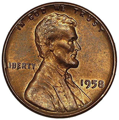 1958 P Lincoln Wheat Cent About Uncirculated