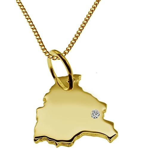 BOLIVIA Partidario con el brillante en 585 oro y cadena