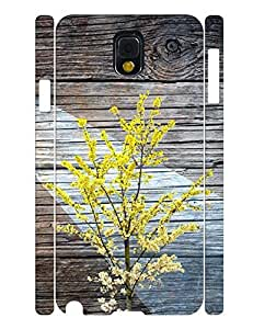 Stylish Series Cell Phone Case With Wood Grain And Flower Tree Printed Snap On Case Cover for Samsung Galaxy Note 3 N9005 wangjiang maoyi