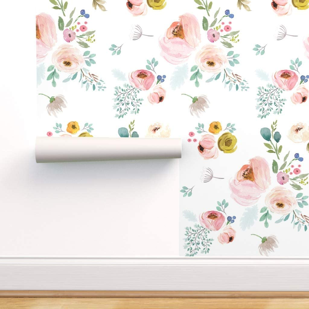 Peel And Stick Removable Wallpaper Spring Botanicals Flowers