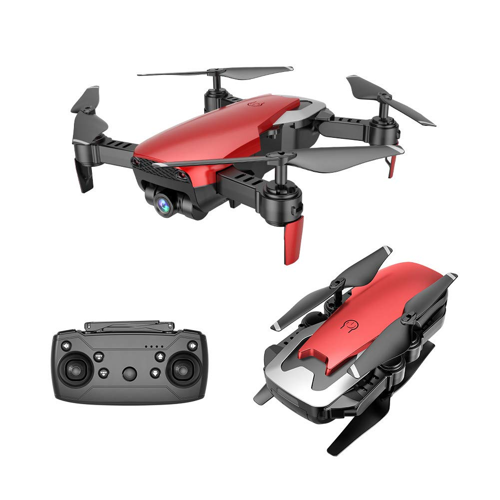 Choosebuy RC Drone with HD Camera, 0.3MP Wide Angle Camera FPV 2.4G/One Key Return/WiFi Control/Quadcopter/Headless Mode Toy Outdoor Gift for Beginners (Red) by Choosebuy (Image #1)