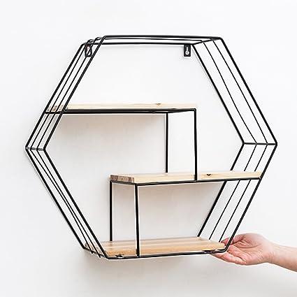 Zheng Hui Shop Estantería Hexagonal de Almacenamiento de ...
