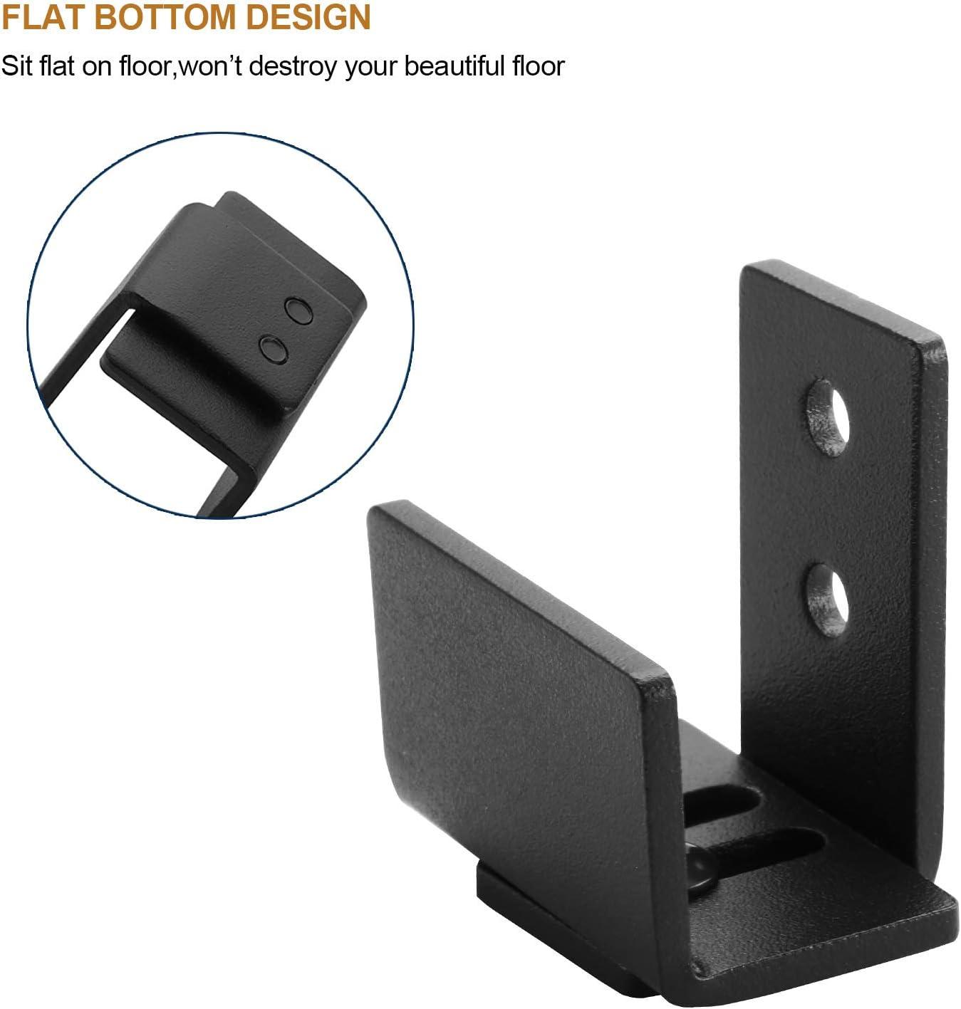 6FT Track Double Door Kit EaseLife 6 FT Super Mini Top Mount Double Door Sliding Barn Door Hardware Track Kit,Easy Install,Slide Smoothly Quietly,Apply for Cabinet Window TV Closet No Cabinet
