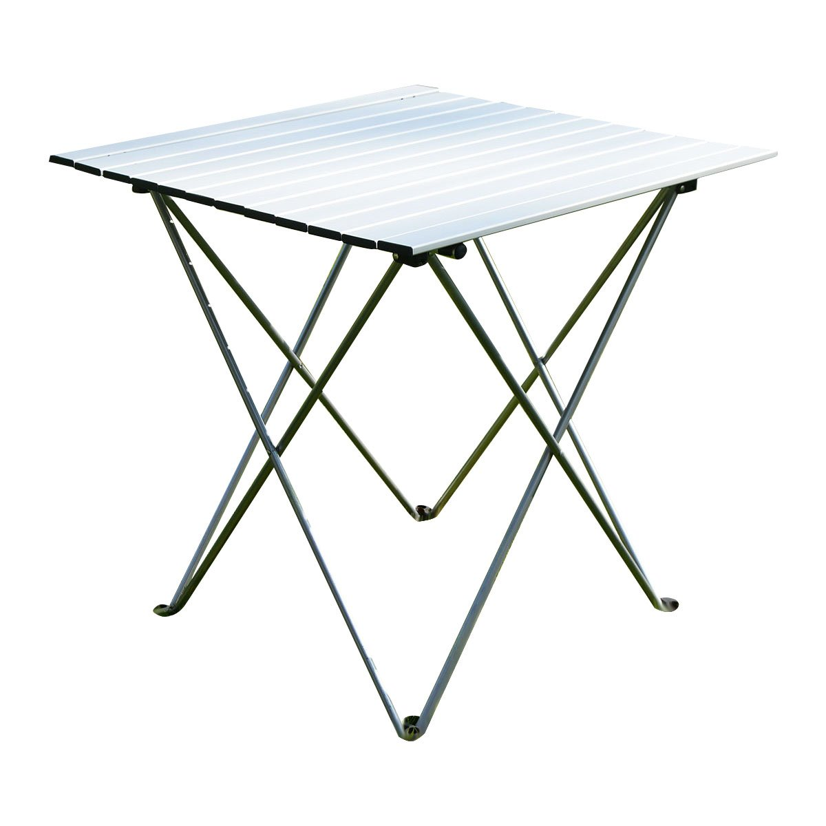 Giantex Aluminum Roll up Table Folding Camping Outdoor Indoor Picnic w/Bag Heavy Duty OP2789