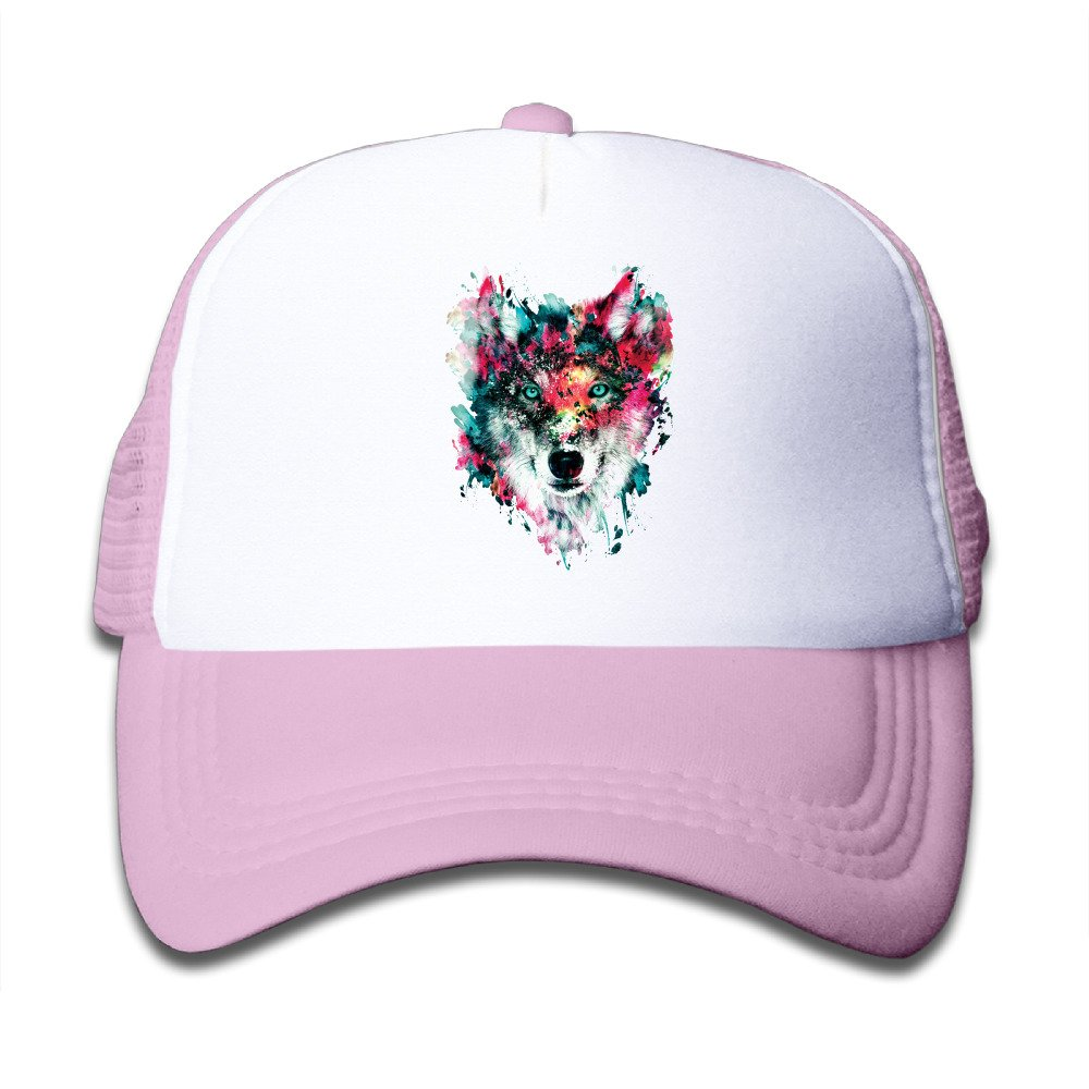 Digital Art Wolf Baby Trucker Hat Sunscreen Mesh Snapbacks Cap
