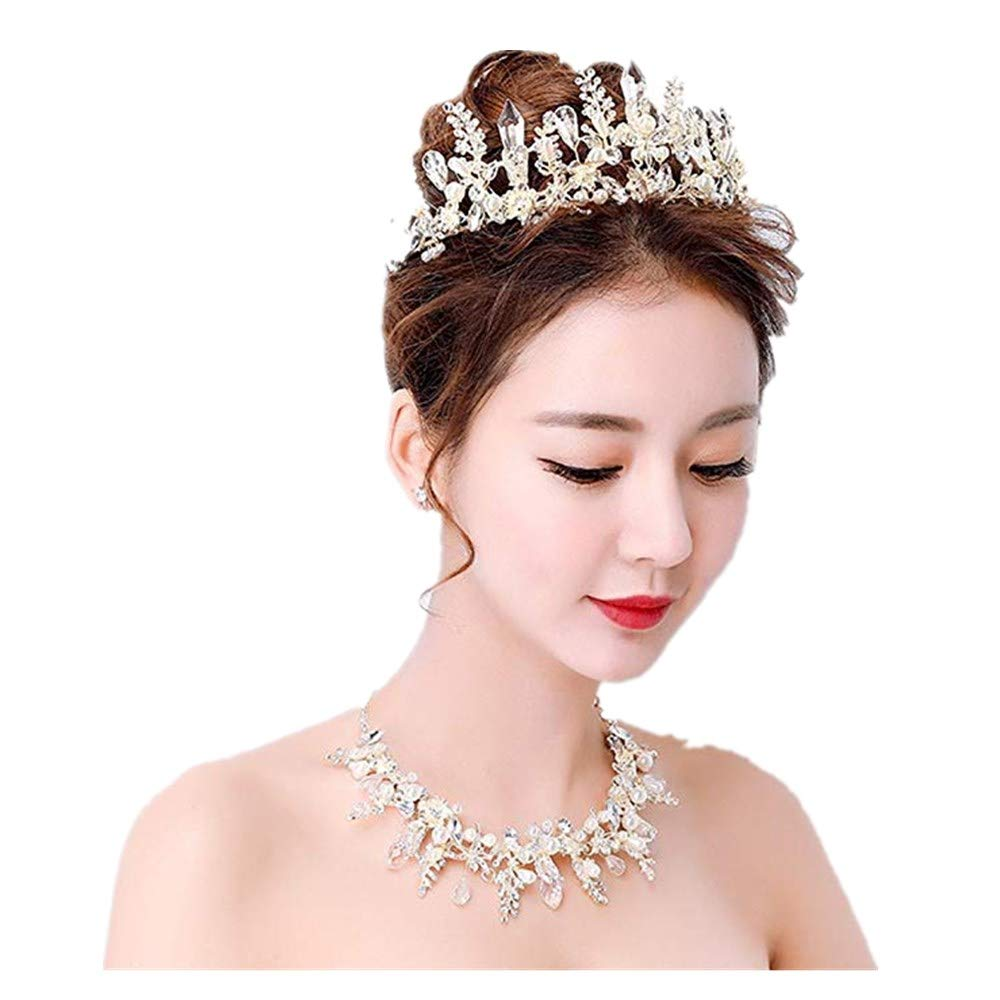 Amazon Butterfly Crystal Bride Light Gold Tiara Crown For Women