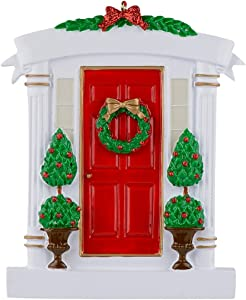 WorldWide Red Door Personalized Christmas Ornament